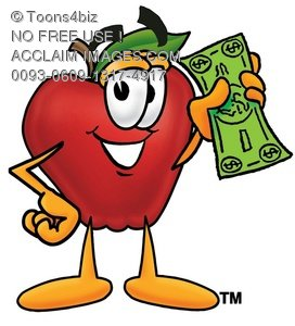 0093-0609-1317-4917_apple_cartoon_character_holding_cash